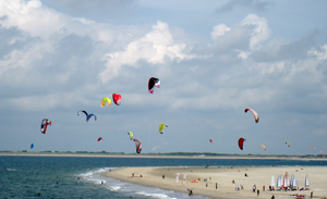Zeeland beach with kites